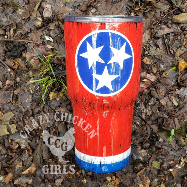 Tennessee TriStar Tumbler Hand Painted