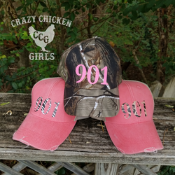 Area Code Distressed Cap