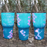 Drink Like a Mermaid Ombre Glitter Tumbler