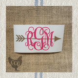 Monogram Arrow Car Decal
