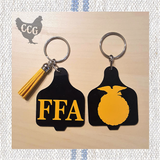 FFA Cow Ear Tag Key Chain