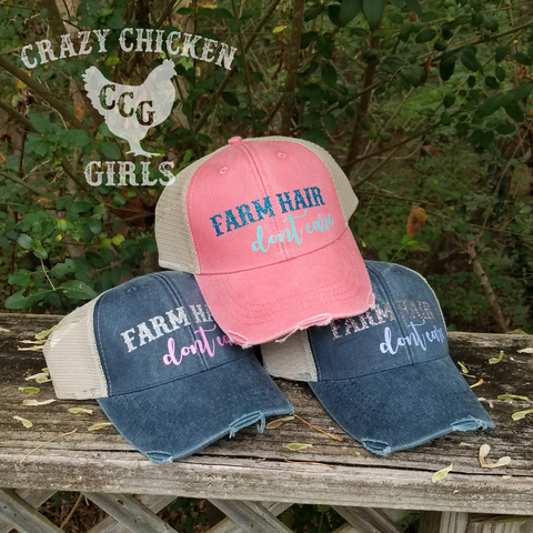 Farm Hair Don't Care Distressed Cap