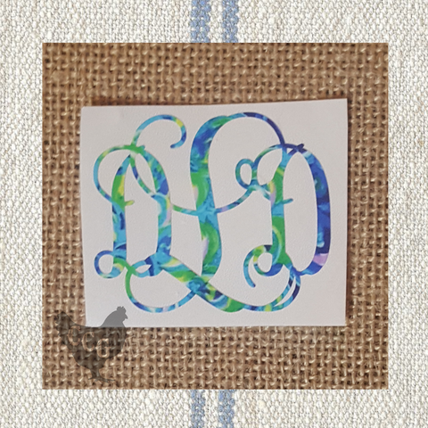 Pattern Monogram Car Decal