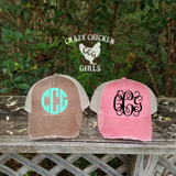 Monogram Distressed Cap