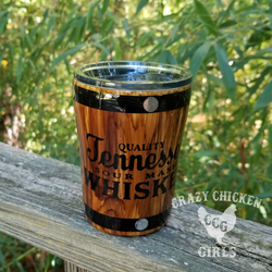 Tennessee Whiskey Wood Grain Tumbler