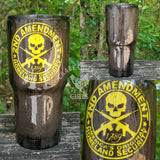 Hammered Metal Second Amendment Tumbler