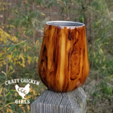 Personalized Wood Grain Wine Tumbler