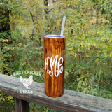 Personalized Wood Grain Tumbler