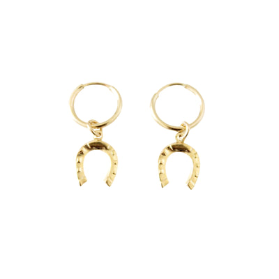 14k Gold Filled Horseshoe Hoop Dainty Earrings - Opalini Jewelry