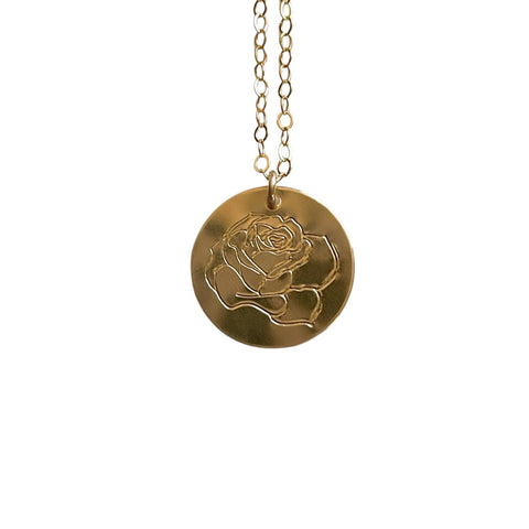 Rose Birth Flower Necklace - Opalini Jewelry