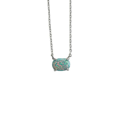 Blue Opal Necklace - Opalini Jewelry