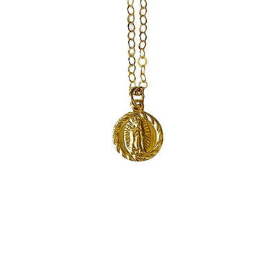 14k Gold Filled Small Virgin Mary Dainty Necklace - Opalini Jewelry