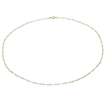 14k Gold Filled Linked Choker Dainty Necklace - Opalini Jewelry