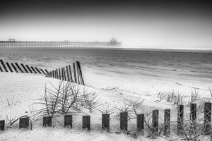Folly Beach Pier in Black & White