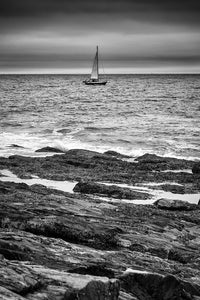 Sailboat in Black & White