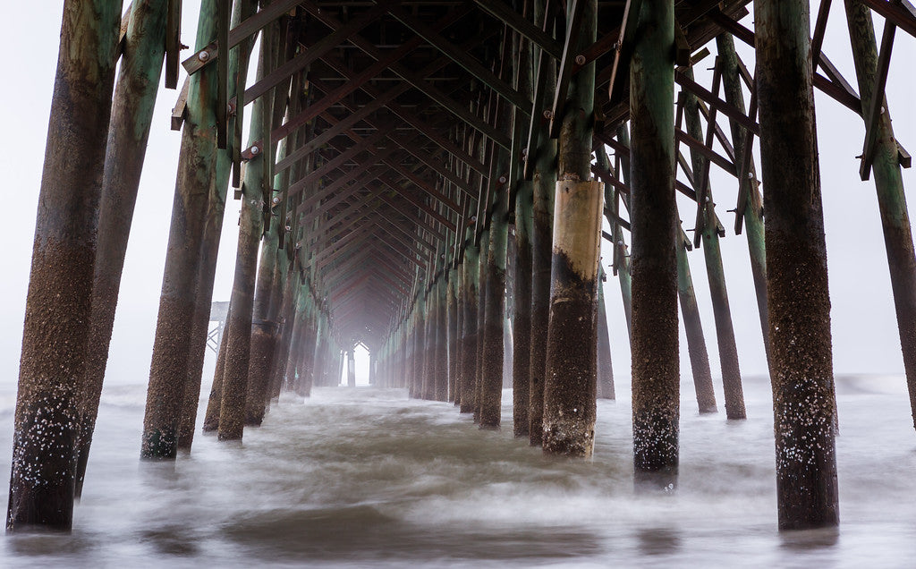 Underneath the Folly Beach Pier
