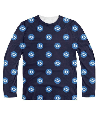 Dash Pattern Long Sleeve - Bitcoin, Ethereum & Crypto Merch