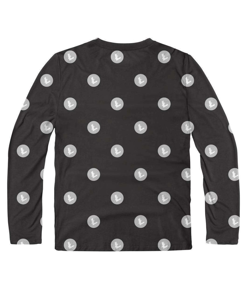 Litecoin Pattern Long Sleeve - Crypto Merchandise