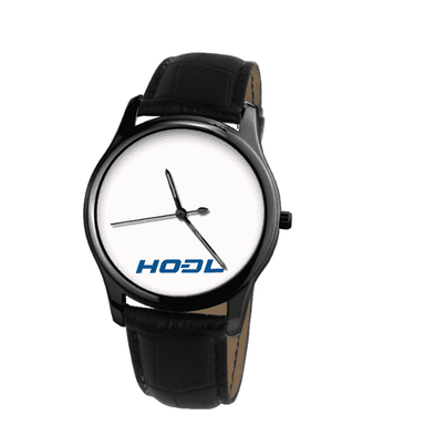 Dash HODL Black Genuine Leather Watch