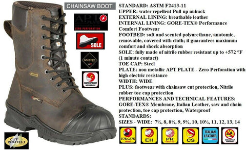 Cofra Chain Saw Boot Energy Brown EH PR CS #21513 CU1