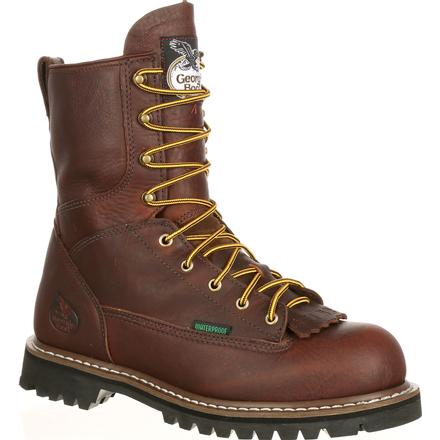Georgia Boot Low Heel Logger Steel Toe Waterproof Work Boot G103