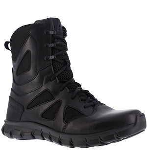 "Reebok Men's 8"" Sublite Cushion Tactical Side Zipper Boot RB8806"