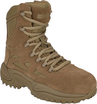 "Reebok Rapid Response RB8850 8"" Military Side Zip Boot Men's & Women's"
