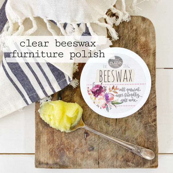 Clear Beeswax Furniture Polish, 8oz