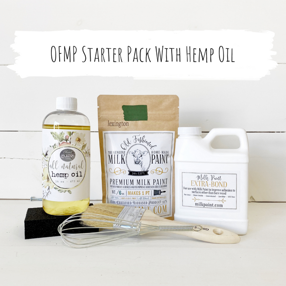 Old Fashioned Milk Paint Bundle #4 ~ Starter Pack with Hemp Oil