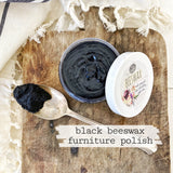 Tinted Beeswax Finish, Black (4oz)