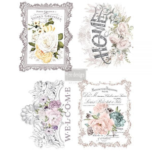 Re Design Decor Transfers / Decals ~ FLORAL HOME, 11″x15″ (each design)