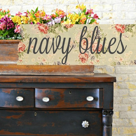 Sweet Pickins Milk Paint, Navy Blues