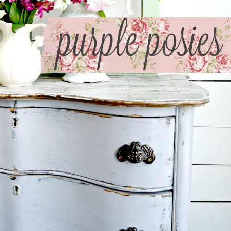Sweet Pickins Milk Paint, Purple Posies