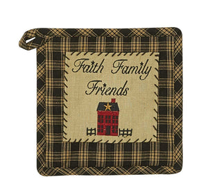 Sturbridge Home Black and Cream Potholder