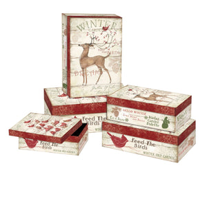 Winter Pallet Decorative Boxes