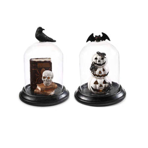 Halloween Glass Dome Decoration with LED