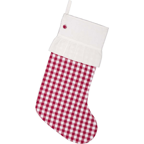 Emmie Red Check Christmas Stocking