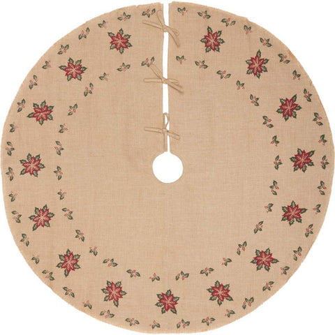 Jute Poinsettia Tree skirt 21""