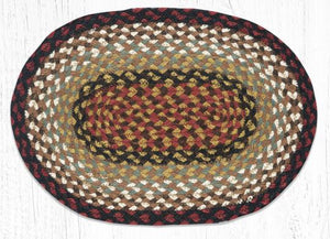 "Burgundy/Mustard Oval Placemat 13""x19"""
