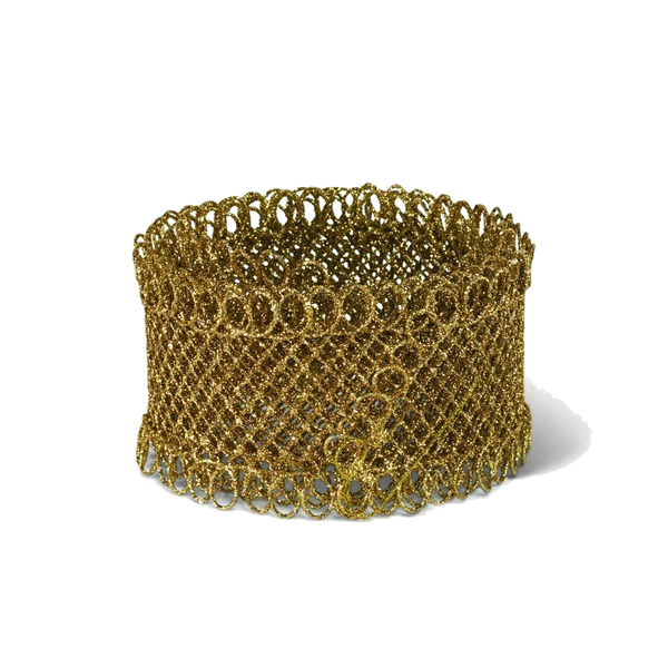 5ft Gold Glitter Wire Mesh Ribbon