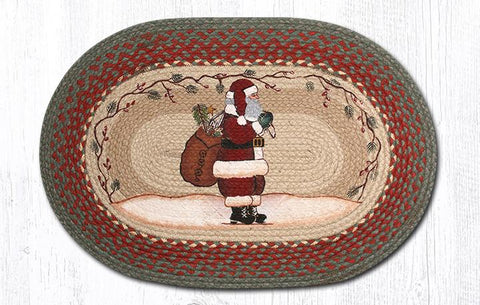 "Santa Braided Oval Braided Rug 20""x 30"""