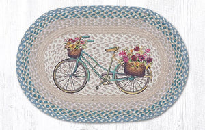 "My Bicycle Braided Oval Rug 20""x30"""