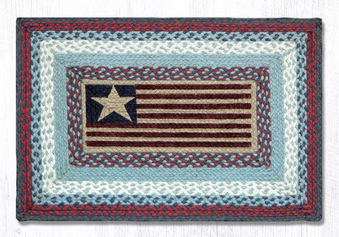 "U.S. Flag Oblong Braided Rug 20""x 30"""
