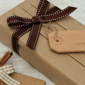 Chocolate Brown Stitched Ribbon, 3 Metres