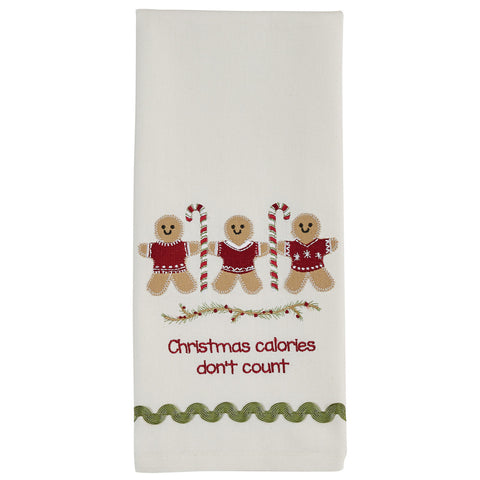 Christmas Calories Gingerbread Man Tea Towel
