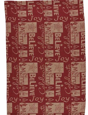 Christmas Words Jacquard Tea Towel