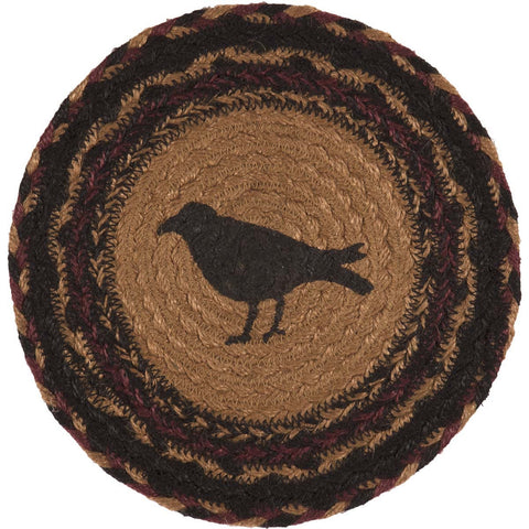 Heritage Farms Crow Jute Trivet 8""