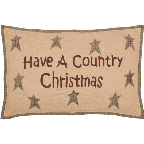 Country Christmas Cushion 14 x 22""