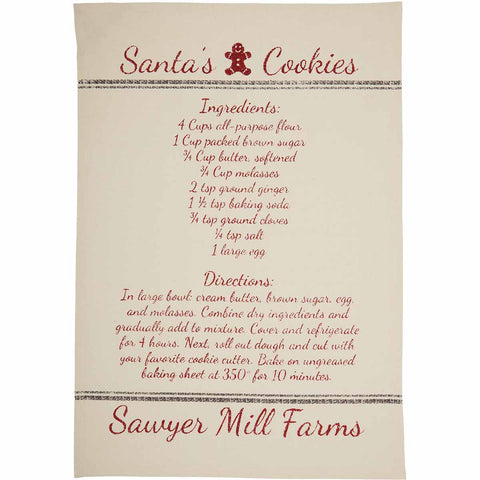 Sawyer Mill Christmas Reindeer & Recipes Tea Towels, Set of 3