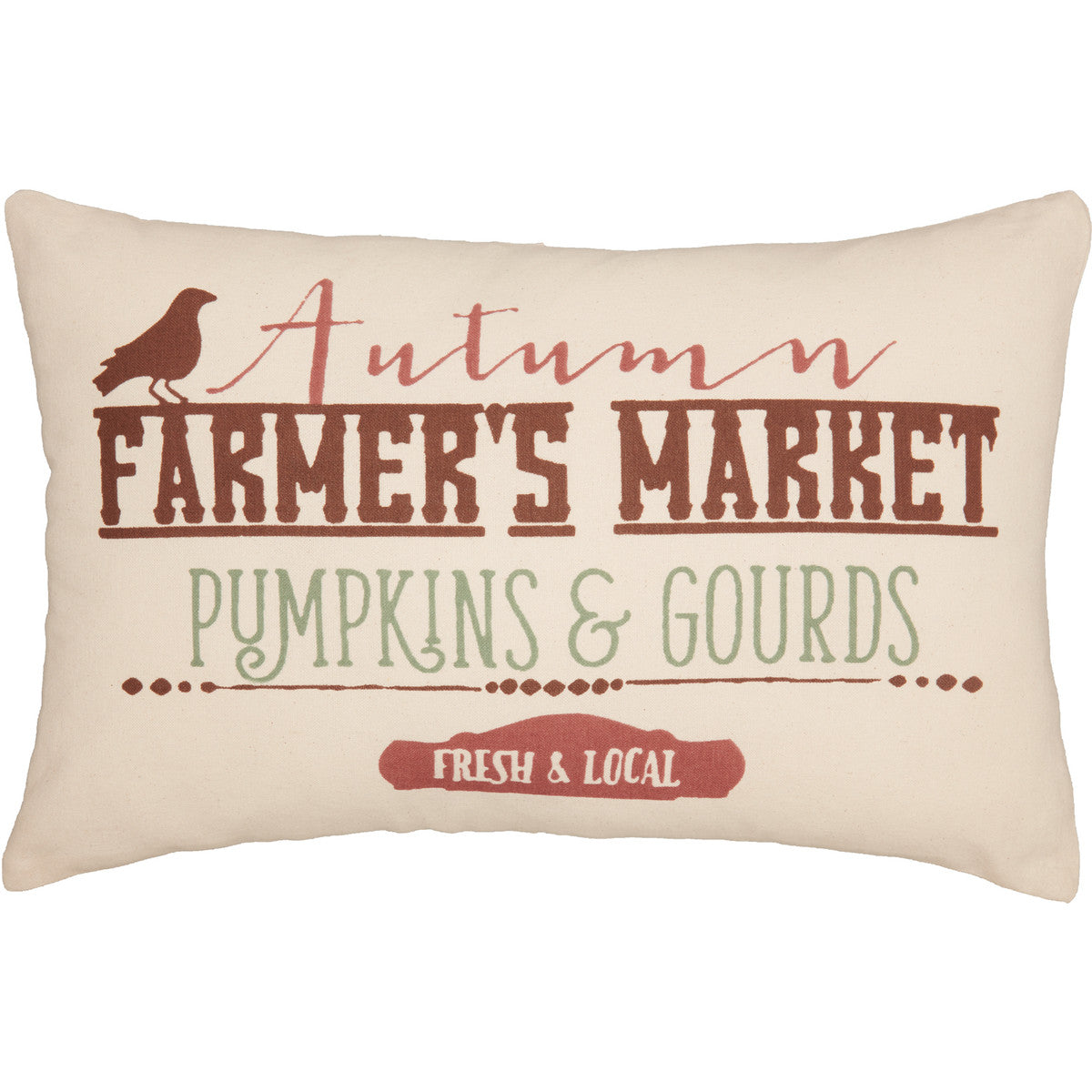 Farmer's Market Harvest Cushion 14x22""